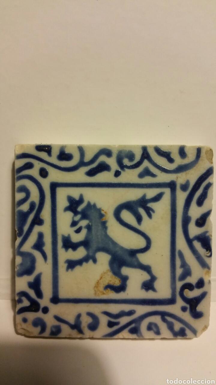 Antigüedades: Azulejo pequeño de cerámica. - Foto 4 - 180280918
