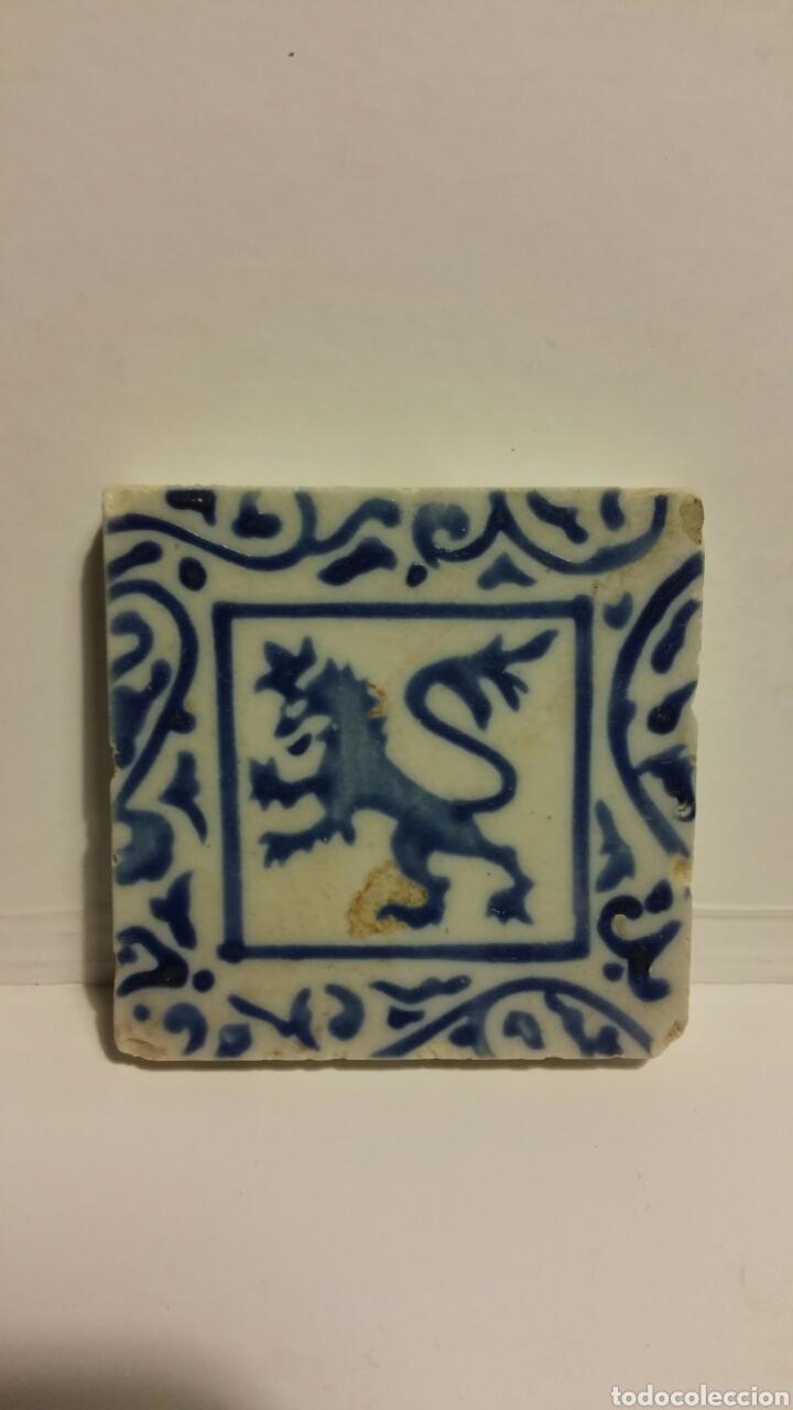 AZULEJO PEQUEÑO DE CERÁMICA. (Antigüedades - Porcelanas y Cerámicas - Azulejos)