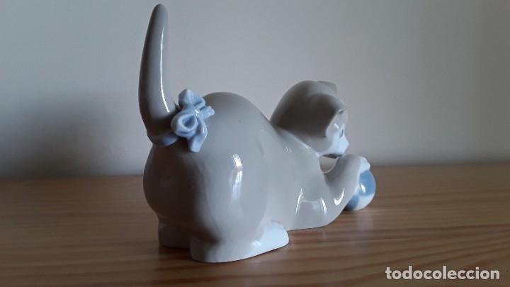 Antigüedades: Gato, gatito porcelana Nao, Lladró - Foto 5 - 180283107