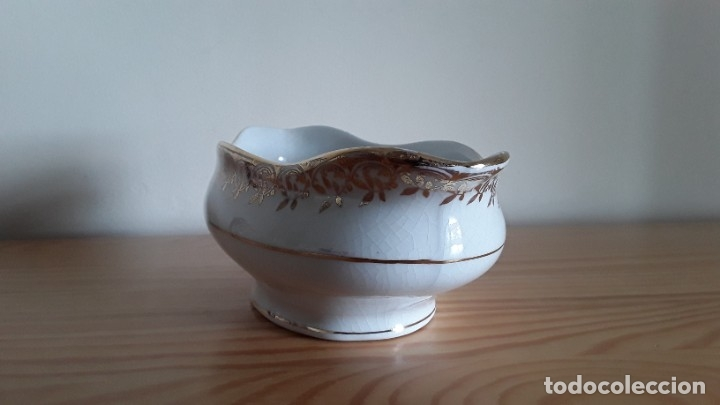 Antigüedades: Salsera cerámica Cartuja Pickman - Foto 2 - 180283393