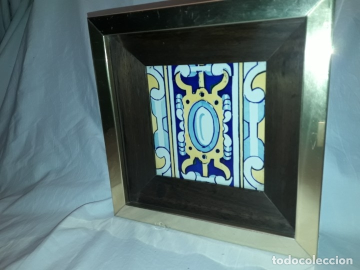 Antigüedades: Antiguo azulejo Baldosa enmarcado - Foto 2 - 180290186