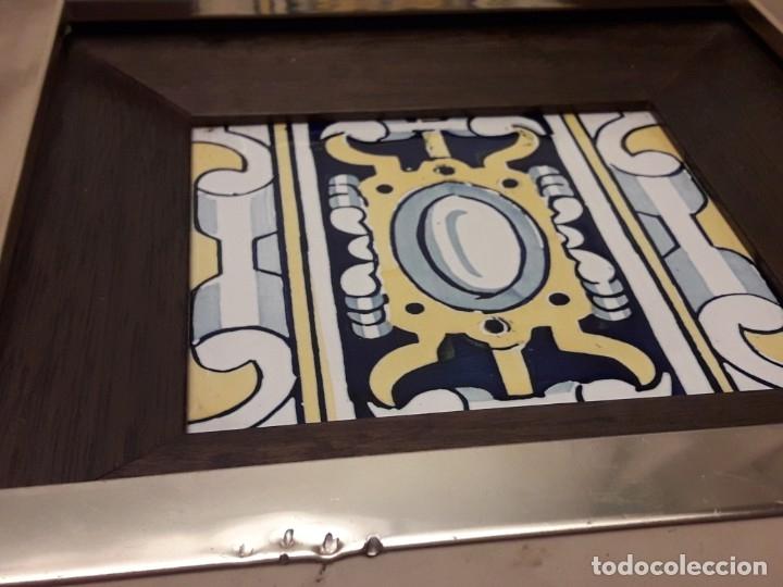 Antigüedades: Antiguo azulejo Baldosa enmarcado - Foto 7 - 180290186