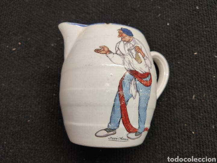 ANTIGUA JARRA DE PORCELANA DIBUJO JOSÉ ARRUE (Antigüedades - Porcelanas y Cerámicas - Otras)
