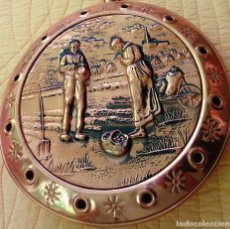 Antigüedades: PRECIOSO CALIENTACAMAS ANTIGUO DE COBRE Y MADERA ADMITO OFERTAS. Lote 178853888