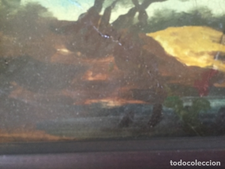 Antigüedades: Antigua Pintura al Óleo Sobre Azulejos. Paisaje firmado J. Vicente - Foto 5 - 180323628