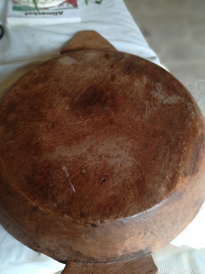 Antigüedades: Frutero rústico antiguo de negrillo - Foto 2 - 180325000