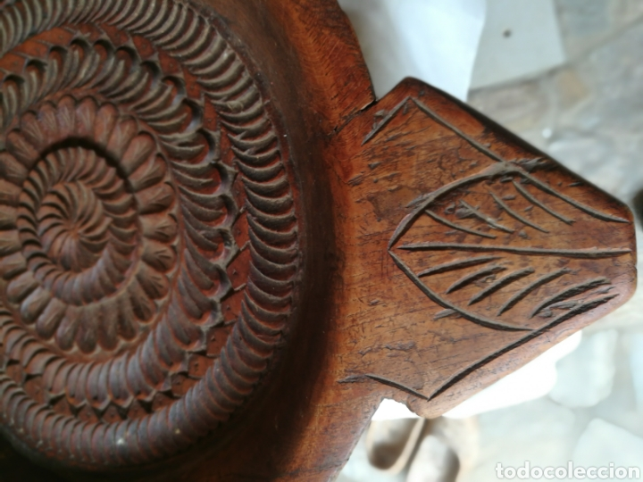 Antigüedades: Frutero rústico antiguo de negrillo - Foto 4 - 180325000