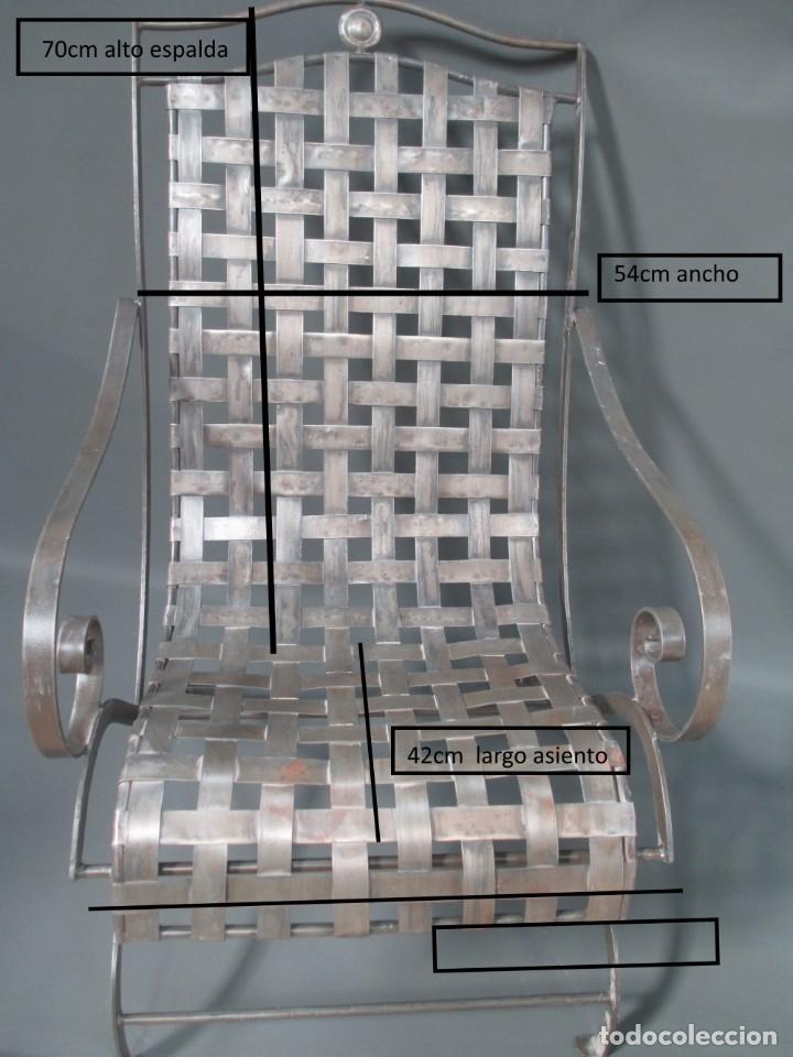 Antigüedades: Pareja de sillones de forja - Foto 5 - 173033467