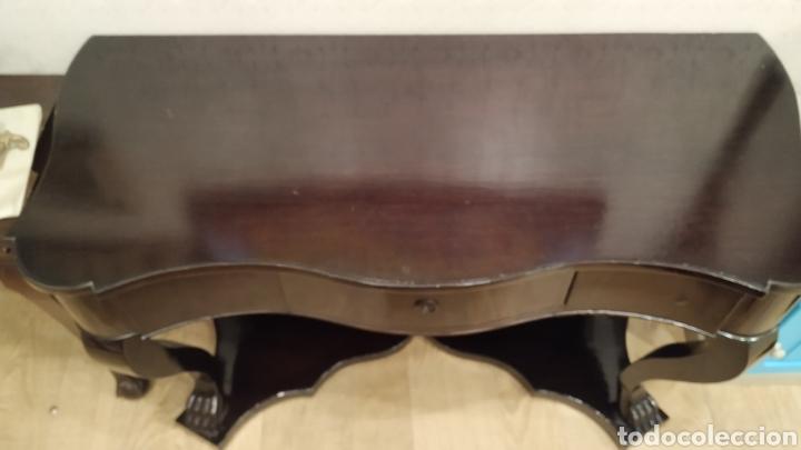 Antigüedades: Consola antigua restaurada. Mueble consola caoba. Mueble antiguo restaurado. - Foto 5 - 180331135