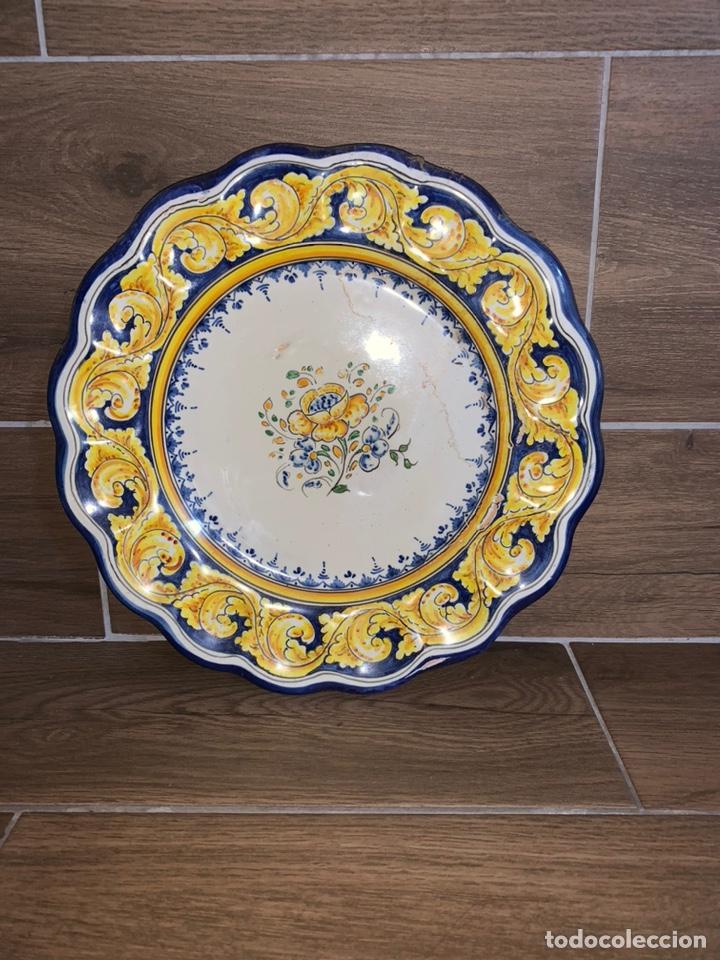 PLATO ANTIGUO TALAVERA (Antigüedades - Porcelanas y Cerámicas - Talavera)