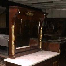Antigüedades: CONSOLA IMPERIO DE CAOBA.SIGLO XIX. Lote 180335143