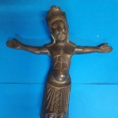 Antigüedades: CRISTO. EN METAL. OBRA ORIGINAL. 25 CTMS . FRANCESC GASSO. UNA OBRA DE ARTE EN TU CASA. Lote 180337057