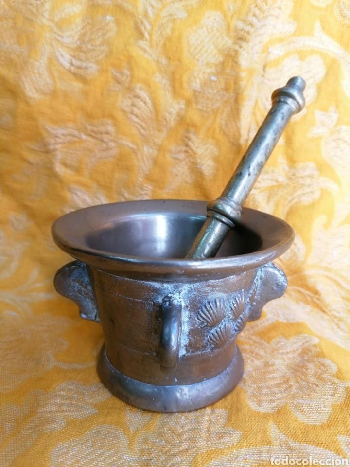 Antigüedades: MORTERO DE BRONCE ANTIGUO - Foto 2 - 180338721