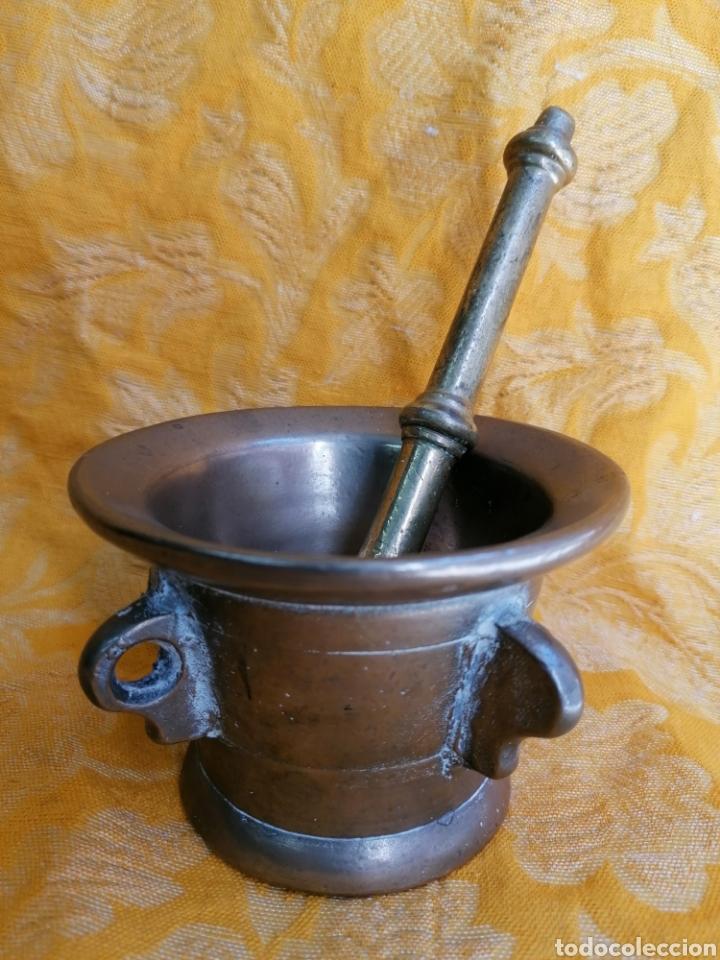 Antigüedades: MORTERO DE BRONCE ANTIGUO - Foto 4 - 180338721