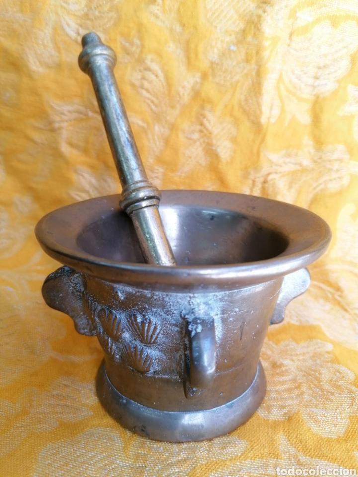 Antigüedades: MORTERO DE BRONCE ANTIGUO - Foto 5 - 180338721