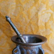 Antigüedades: MORTERO DE BRONCE ANTIGUO. Lote 180338721