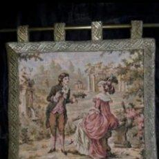 Antigüedades: TAPIZ JARDIN FROLIP ...SIGLO XVIII. Lote 180340101