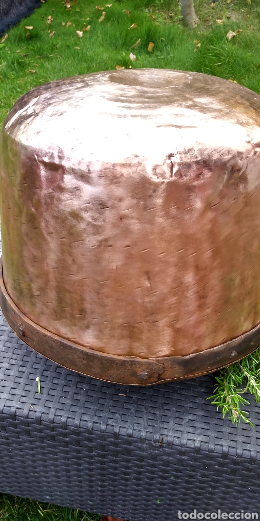 Antigüedades: Antigua caldera de cobre , excelente estado . - Foto 7 - 180347570