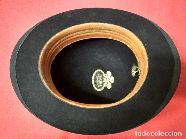 Antigüedades: ANTIGUO SOMBRERO HONGO PARA CABALLERO. FIELTRO - Foto 3 - 180386782