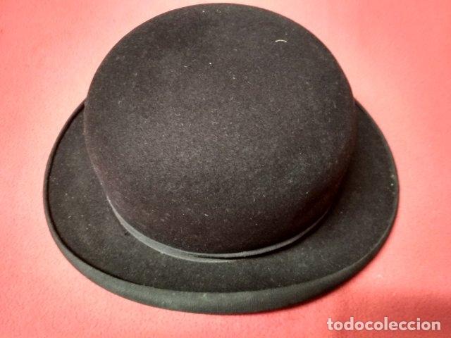 ANTIGUO SOMBRERO HONGO PARA CABALLERO. FIELTRO (Antigüedades - Moda - Sombreros Antiguos)