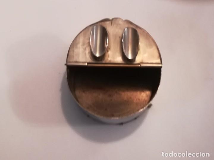 Antigüedades: Cenicero plata con curioso grabado - Foto 2 - 180387067