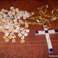 Antigüedades: RESTOS DE CRUCIFIJO CON PIEDRAS . Lote 180395605