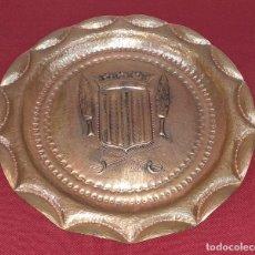 Antigüedades: PLATO DE COBRE SEGUNDA MITAD SIGLO XX. Lote 180399050