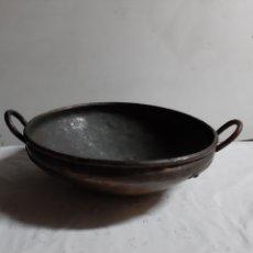 Antigüedades: ANTIGUA CALDERA EN COBRE SIGLO XIX. Lote 180419270