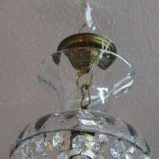 Antigüedades: ANTIGUA LAMPARA DE CRISTAL. AÑOS 40. Lote 180421827