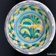 Antigüedades: CONSERVADO LEBRILLO DE TRIANA SIGLO XIX 43CM SIN PELOS NI RESTURACIONES. Lote 180422261