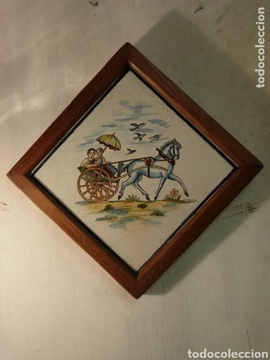 Antigüedades: 2 Azulejos - Foto 2 - 180423402