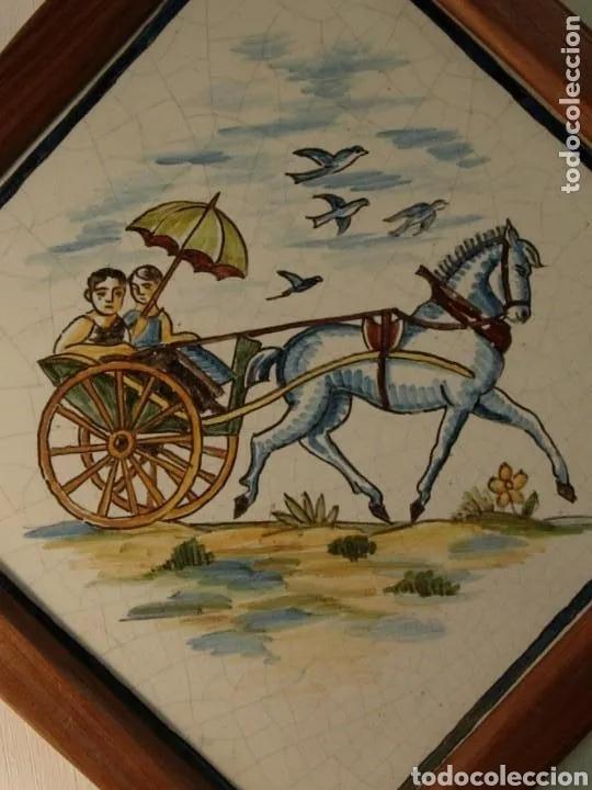 Antigüedades: 2 Azulejos - Foto 3 - 180423402