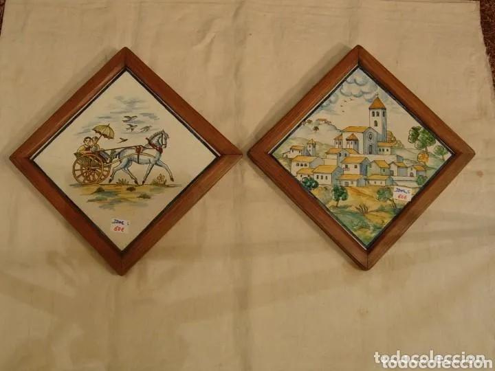 2 AZULEJOS SIGLO XIX BUEN ESTADO (Antigüedades - Porcelanas y Cerámicas - Azulejos)