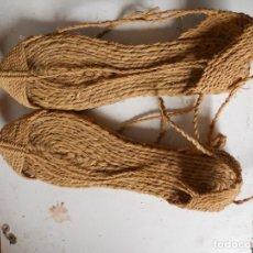 Antigüedades: ANTIGUAS ALPARGATAS DE ESPARTO, SIN ESTRENAR. Lote 180425012