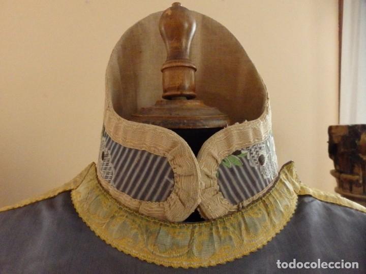 Antigüedades: Pareja de dalmáticas confeccionadas en seda brocada con motivos barrocos. Siglo XIX. - Foto 11 - 180425062