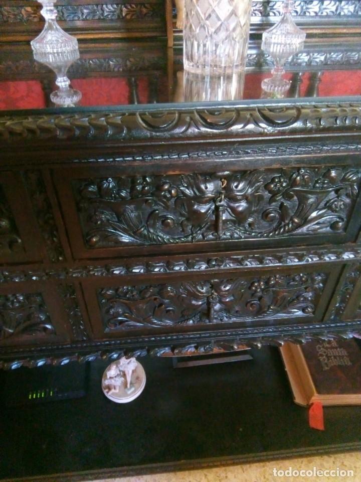 Antigüedades: Salón completo renacimiento español - Foto 4 - 180425703