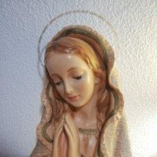 Antigüedades: ANTIGUO RELIEVE VIRGEN MARIA DE OLOT. Lote 180426332