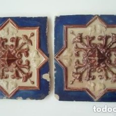 Antigüedades: PAREJA DE AZULEJOS. 026519260. VA-041019940-25.. Lote 180445577
