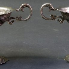 Antigüedades: PAREJA DE COPAS PUNZÓN Y CONTRASTE PLATERO PEDRO ÁLVAREZ PRIMERA MITAD DEL SIGLO XX. Lote 180454108