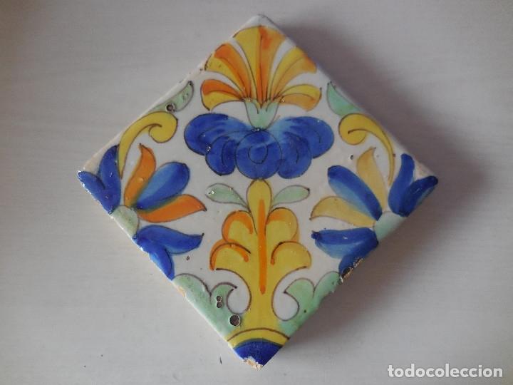 AZULEJO. FÁBRICA DE VALENCIA. C. 1700. CONSERVACIÓN EXCEPCIONAL. ORIGINAL¡¡¡¡ (Antigüedades - Porcelanas y Cerámicas - Azulejos)