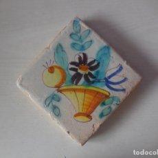 Antigüedades: AZULEJO. FÁBRICA DE VALENCIA. C. 1790. ORIGINAL¡¡¡¡. Lote 180456598