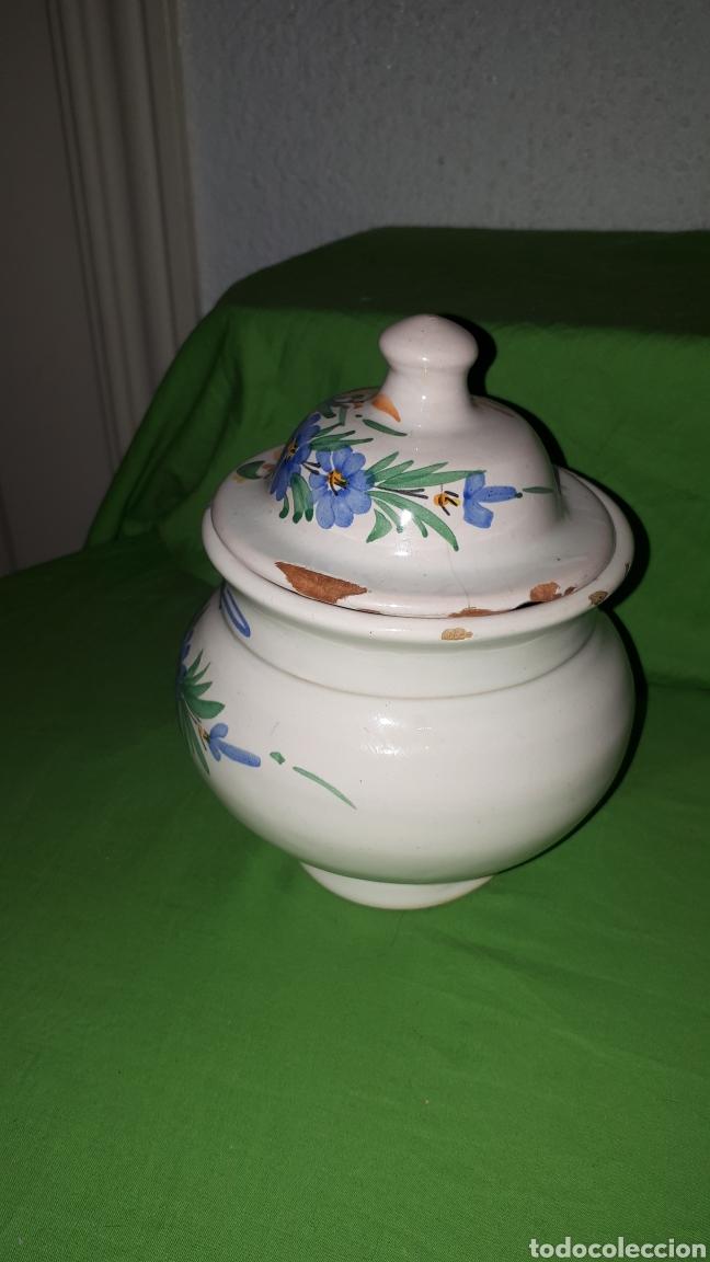 Antigüedades: Antiguo azucarero ceramica firmado LARIO - Foto 2 - 180459648