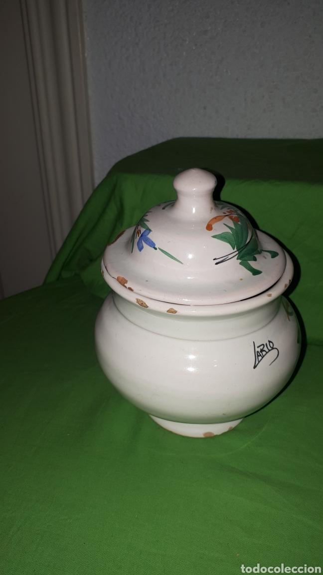 Antigüedades: Antiguo azucarero ceramica firmado LARIO - Foto 3 - 180459648