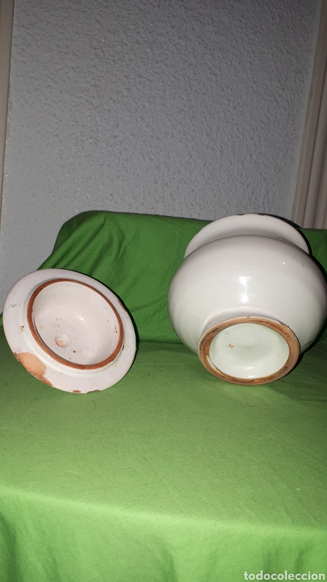 Antigüedades: Antiguo azucarero ceramica firmado LARIO - Foto 4 - 180459648