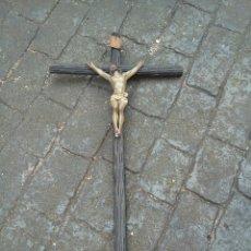 Antigüedades: GRAN CRUCIFIJO. Lote 180460671