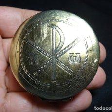 Antigüedades: PORTAVIATICO, DECORADO CON CRISMON,HOSTIARIO. Lote 180461781