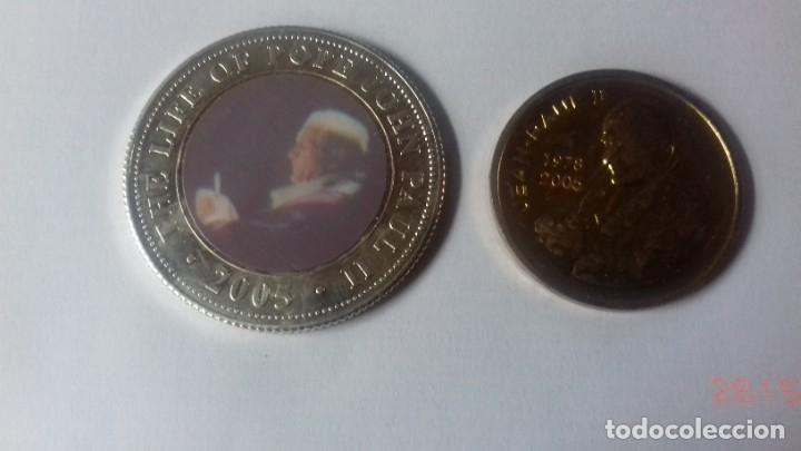 Antigüedades: Pack de moneda y medalla del Papa Juan Pablo II - Foto 2 - 159503266