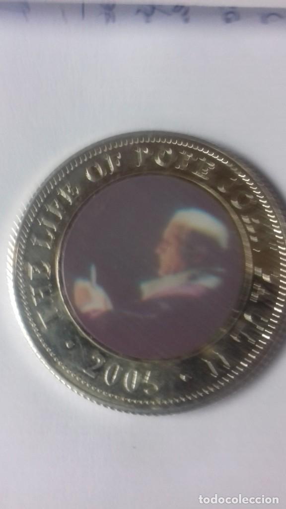 Antigüedades: Pack de moneda y medalla del Papa Juan Pablo II - Foto 15 - 159503266