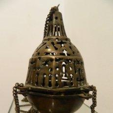 Antigüedades: INCENSARIO GÓTICO, SIGLO XIV, ALTA ÉPOCA. Lote 180465995