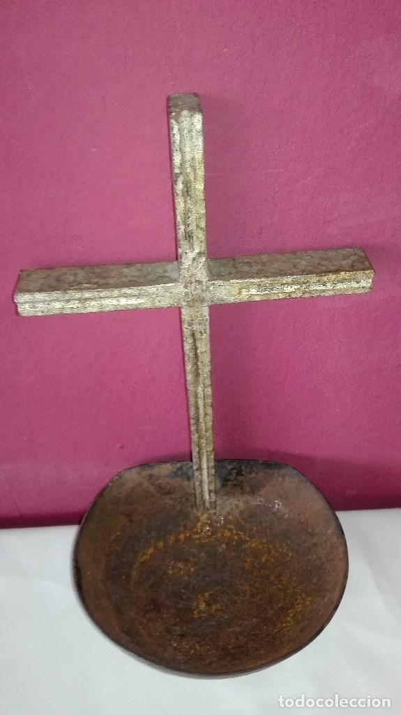 BENDITERA DE HIERRO (Antigüedades - Religiosas - Benditeras)